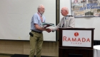Jerry Barsness receives a Rocky Award for his volunteer work recruiting new members