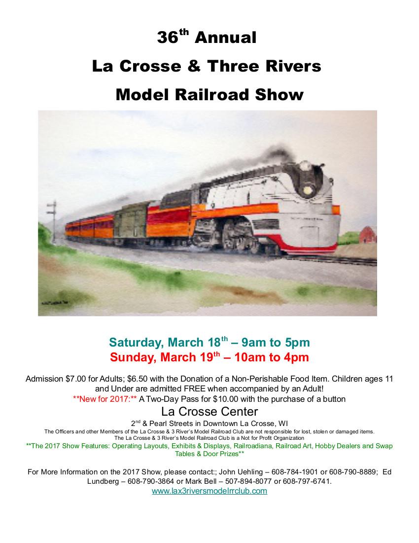GNRHS at the La Crosse & Three Rivers Model RR Show