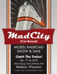 2017 Mad City Model Railroad Show & Sale